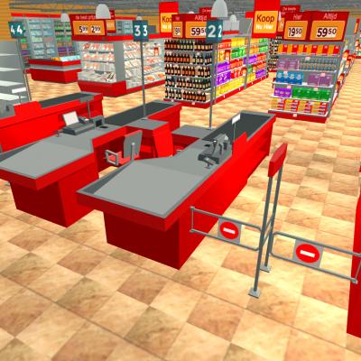 3D Supermarkt